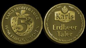 Gutschein Münze für Erdbeeren