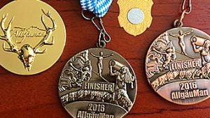 Medaillen Gold, Kupfer, Bronze, Silber