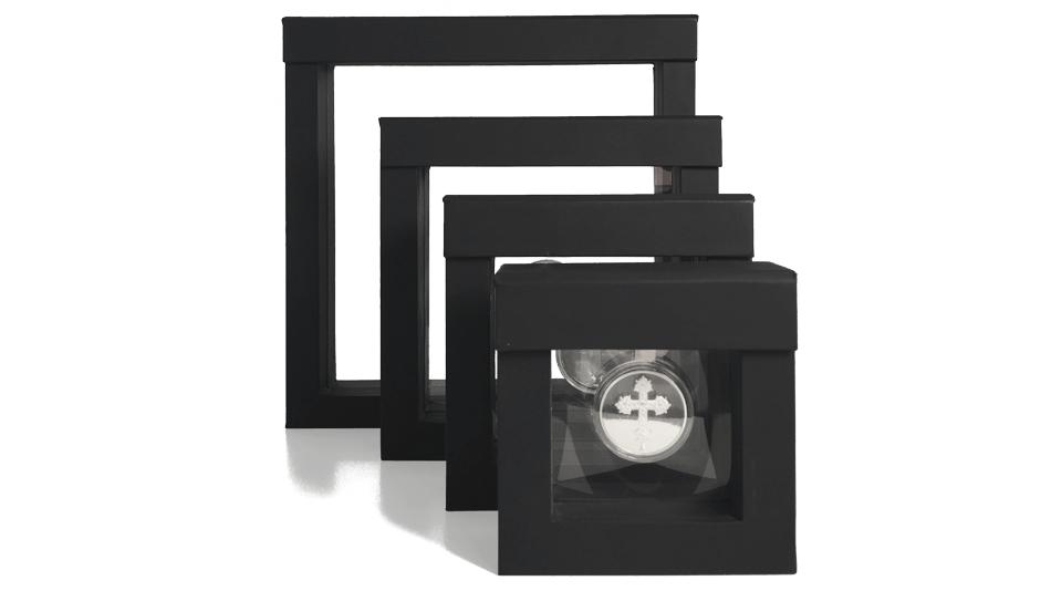 V19 - Cadre de présentation avec  membranes en silicone transparentes